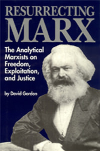 Book cover for Resurrecting Marx depicting bearded Marx leering at you.
