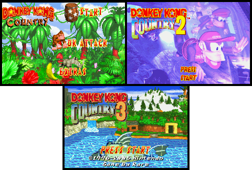 Donkey Kong Country Map on